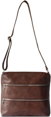 Beaulah Ravva Women Casual Brown Leatherette Sling Bag