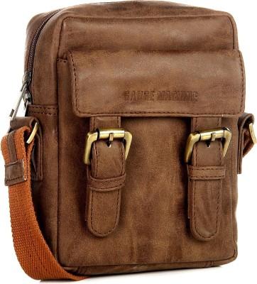 Gauge machine Men, Boys, Girls, Women Brown Leatherette Sling Bag