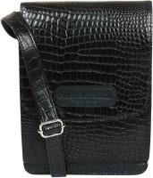 Classy Travel Stores Men & Women Black Genuine Leather Sling Bag