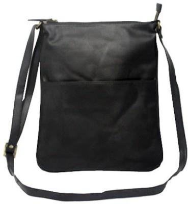 Nappastore Women, Girls Casual, Formal Black Leatherette Sling Bag