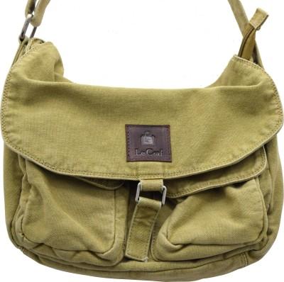 Le Craf Men, Women Casual Khaki Canvas Sling Bag