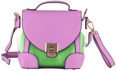 Aliza Women Formal Purple PU Sling Bag