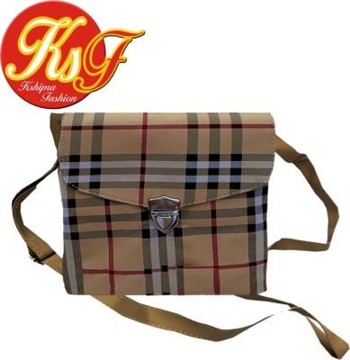 Kshipra Fashion Girls, Women Yellow Rexine Sling Bag