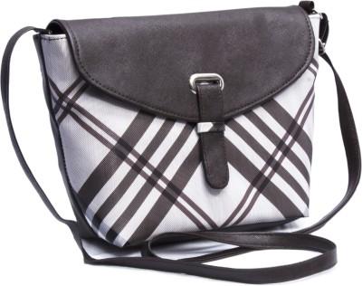 Voaka Girls, Women Brown, White Leatherette Sling Bag