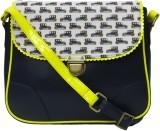 Zaera Women Casual Blue PU Sling Bag