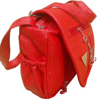 YOURS LUGGAGE Girls, Women Pink PU Sling Bag