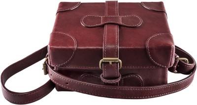 Hidesign Men Red Genuine Leather Sling Bag