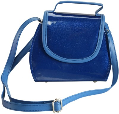 Naitik Products Women Blue Leatherette Sling Bag