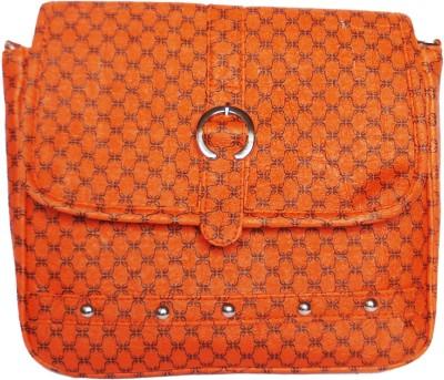 WEEBILL Girls Orange PU Sling Bag
