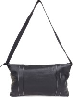 THISRUPT Women Black Genuine Leather Sling Bag