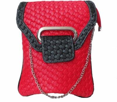 Modish Look Women, Girls Casual Red, Black PU Sling Bag