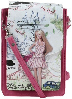 Coash Women Pink PU Messenger Bag
