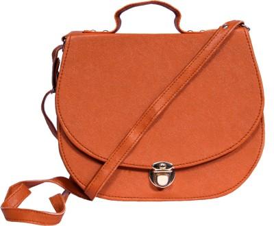 zasmina Girls Brown PU Sling Bag