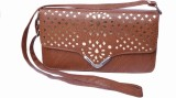 Admarich Women Brown PU Sling Bag