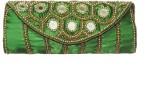 ShopperzGuide Women Green Silk Sling Bag