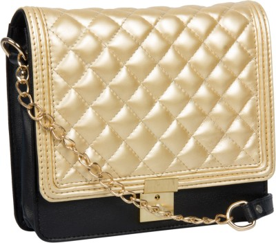 Adaira Girls Evening/Party Gold PU Sling Bag