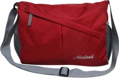 Nicelook Boys, Girls Red Polyester Shoulder Bag