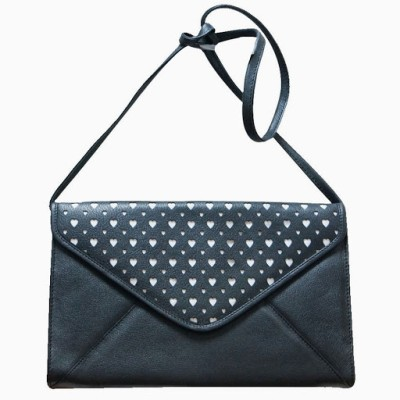 Jeane Sophie Women Casual, Evening/Party Black Genuine Leather Sling Bag