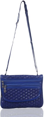 NFI Girls, Women Blue Leatherette Sling Bag