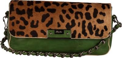 WeMe Women Green Genuine Leather Sling Bag