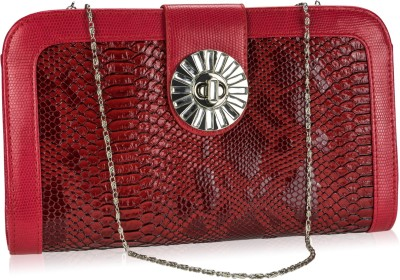 Neuste Women, Girls Casual, Festive, Evening/Party Red Leatherette Sling Bag