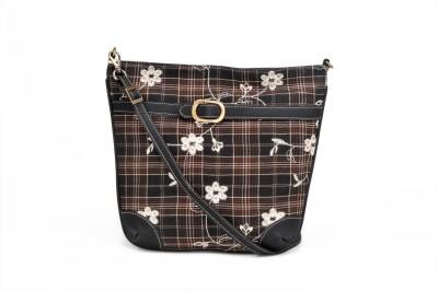 Stylocus Women Casual Black Cotton Sling Bag