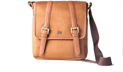Atorse Men Tan PU Sling Bag