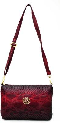 inkdice Girls, Women Red, Black PU, Leatherette Sling Bag