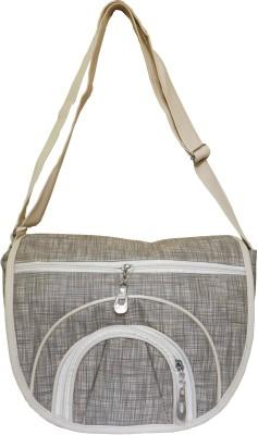 JTM Trading Girls, Women White Canvas Shoulder Bag