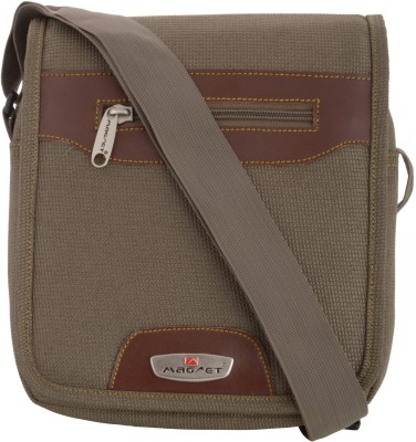 MAGNET Boys Brown Nylon Sling Bag