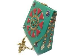 Nakkashee Women Green Acrylic Sling Bag