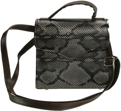 Naitik Products Women Black Leatherette Sling Bag