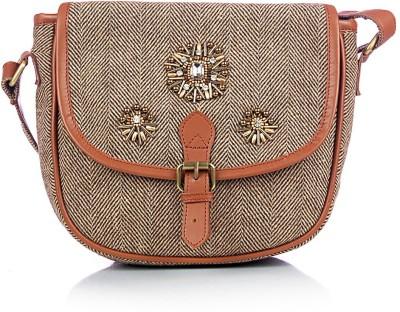 Shaun Design Women, Girls Brown Wool Sling Bag