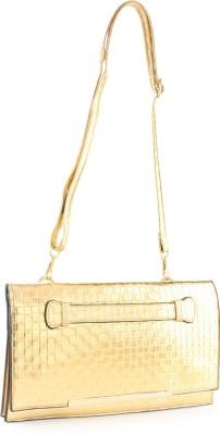 Aashka Women Gold PU Sling Bag
