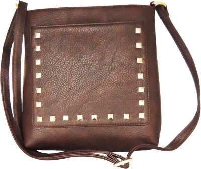 Madame Exclusive Girls, Women Brown Leatherette Sling Bag