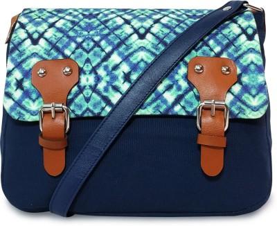 Lemon Trunk Women Blue Canvas Sling Bag