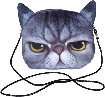 FabSeasons Boys, Girls Grey Velvet Sling Bag