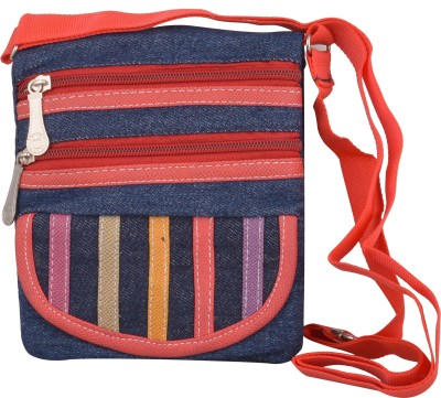 Arisha kreation Co Women Red Denim Sling Bag