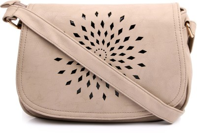 Cappuccino Girls Grey PU Sling Bag