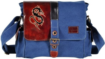 Hawai Men, Women Casual Blue Cotton Sling Bag