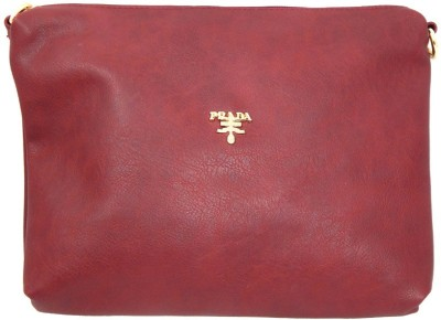 mezzo99 Girls, Women Maroon PU Sling Bag
