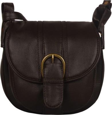 Bagsy Malone Women Brown PU Sling Bag