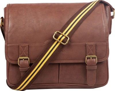 Lomond Men Casual Brown PU Sling Bag