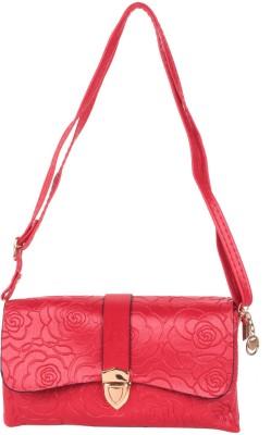 Reedra Women Red PU Sling Bag