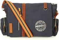 The House of Tara Men & Women Blue Canvas Messenger Bag