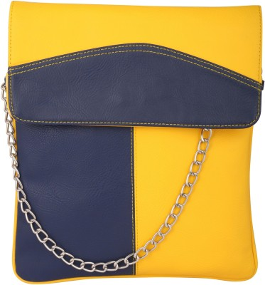 Spice Art Girls Casual Yellow, Blue Leatherette Sling Bag