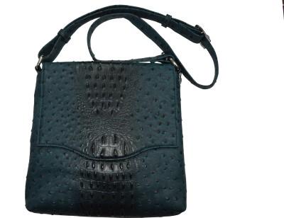 Knott Girls Blue Leatherette Sling Bag