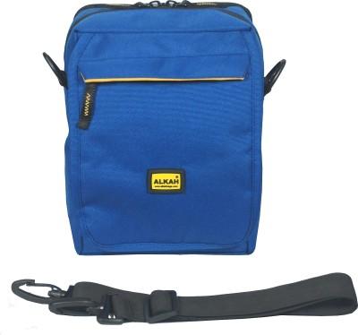 Alkah Men Casual Blue PU Sling Bag