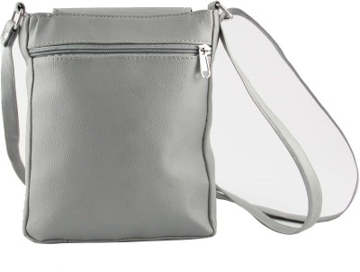 31st Street Girls, Women Grey Leatherette Sling Bag