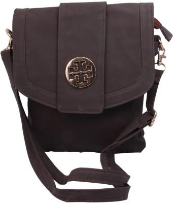 Alishaan Girls Brown Leatherette Sling Bag